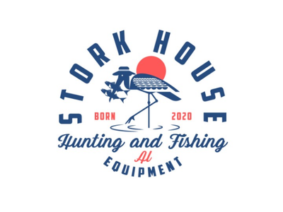 Stork House - hunting & Fishing logo logodesign design