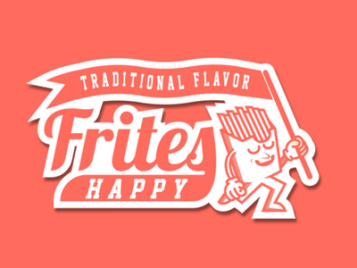 Frites Happy logodesign design brand