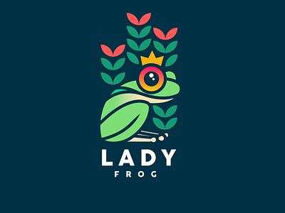 LADY FROG vector icono ilustrador logo logodesign design ilustración logotipo marca tipografía diseño de logo diseño plano logodesign design brand logo