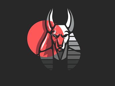 Anubis logotipo diseño plano logo logodesign design logo marca logodesign design brand