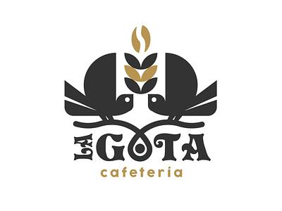 la Gota Cafetería logo diseño plano logotipo plano logodesign design brand diseño de logo ilustración tipografía marca logo logodesign design