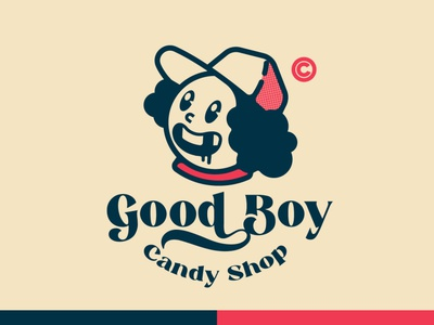 good boy Candy ilustración design tipografía logo logodesign design marca diseño plano diseño de logo logodesign design brand logo