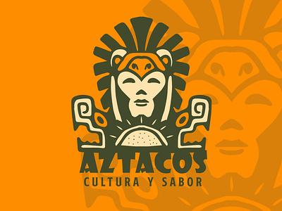 AZTACOS brand branding design illustration tipografía logo logodesign design marca diseño plano diseño de logo logodesign design brand logo