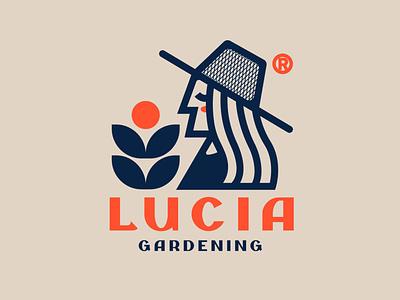 LUCIA Gardening diseño de logo marca design illustration tipografía logo logodesign design diseño plano logodesign design brand logo
