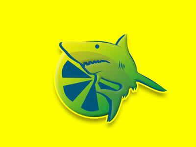 Lemon Shark tipografía marca ilustrador icono ilustración diseño art diseño de logo logotipo diseño plano plano logo