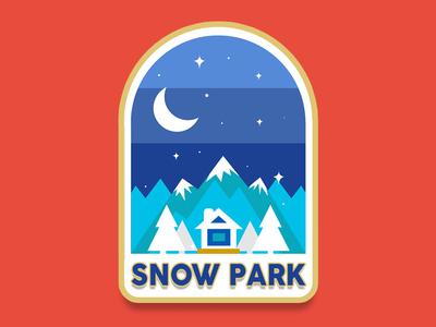 Snow Park vector tipografía marca diseño illustration typography diseño de logo branding art plano logo diseño plano