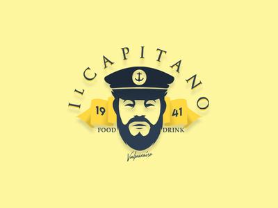Il Capitano icono diseño ilustración design illustration diseño de logo tipografía marca plano art diseño plano logotipo logo