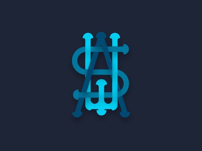 Was monogram icono diseño ilustración plano logotipo diseño plano tipografía diseño de logo marca art logo