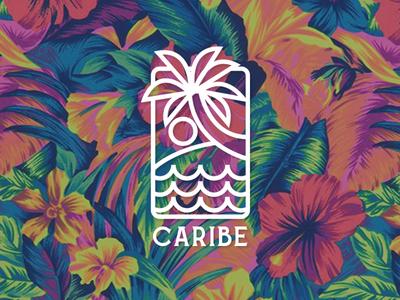 Caribe vector ilustrador icono diseño ilustración plano logotipo diseño plano tipografía diseño de logo marca art logo