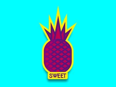 Pineapple Sweet Candy sticker vector icono ilustración ilustrador diseño diseño de logo illustration design logotipo art º diseño plano logo