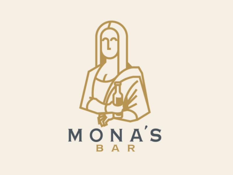 MONA'S BAR logodesign design brand