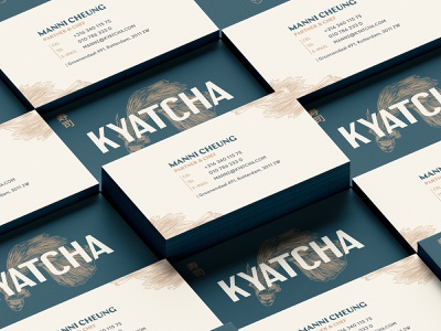Kyatcha - Business cards typography print music festival logo type logo mark logo identity logo designer logo design logo illustration identity design graphic design festival event conference business card branding design brand identity brand guideline