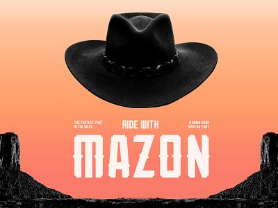 20 1103 MAZON FONT PRESENTATION 1820x1214 004 hat wild type typedesign western typeface typography