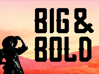 Mazon - Big & Bold display typeface typography free display font display western west typedesign typeface type