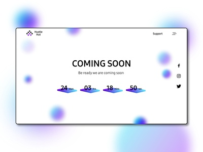 Coming Soon Webpage Concept