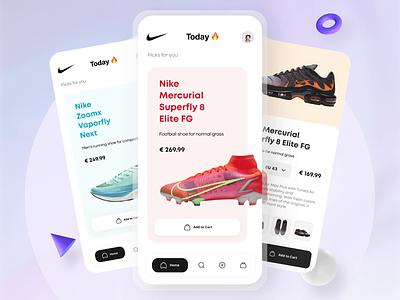 Nike Shoes E-commerce App Prototype shoes app principle design user experience animation ui animation prototype mobile app ecommerce nike