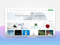 Photo-Sharing Website Landing Page UI Design