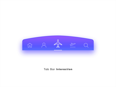 Tab Bar Interaction v3 ui animation micro interaction micro interactions interaction design interactive after effects design flight booking travel interactions ui ux user experience product design user interface animation motion design