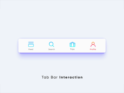 Tab Bar Interaction v4 animation animation after effects interaction design microinteractions ui animation ui concept ui experiment interaction designer microinteraction smooth animation