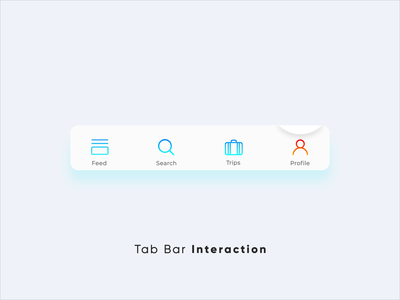 Tab Bar Interaction v5 motion design user interface product design travel flight booking design after effects interaction design micro interactions ui animation user experience ux ui interactions animation interactive micro interaction