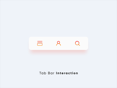 Tab Bar Interaction v6 motion design user interface product design design after effects interaction design micro interactions ui animation micro interaction interactive animation interactions ui ux user experience