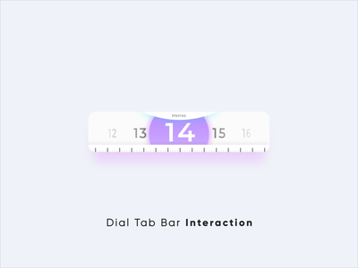 Dial Tab Bar Interaction user experience ux ui interactions animation interactive micro interaction ui animation micro interactions interaction design after effects design product design user interface motion design