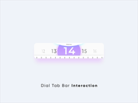Dial Tab Bar Interaction