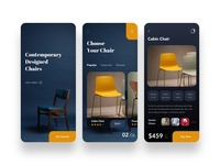 Contemporary Designed Chairs E-commerce UI