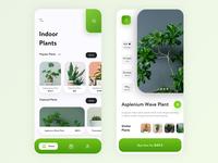 Indoor Plants App UI Design