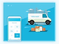 Delivery App Landing Page Header