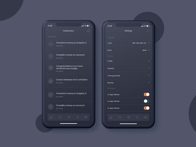 Notifications & Setting UI kit