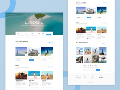 Trip Planner Website Landing Page branding web design ux ui landing page website travel agency trip planner