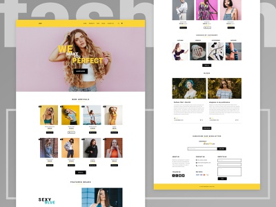 E-commerce Landing Page for Women's Fashion ux ui web design womens fashion landing page e-commerce