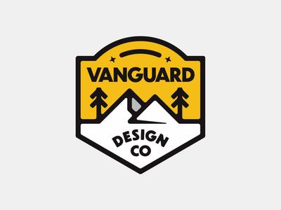 Vanguard Mountain Badge nature outdoors vanguarddesignco mountainbadge mountain outdoorbadge patchdesign badgedesign badge logodesigns logodesigner logodesign logo