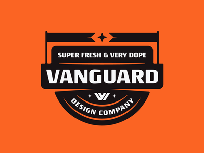 Vanguard Badge graphicdesigner graphicdesign customlogo logoconcept branddesign brandlogo logoinspirations vanguarddesignco shirt apparel merchdesign badgelogo flags badgedesign logodesigner logodesign logo badge