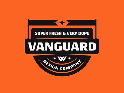 Vanguard Badge graphicdesigner graphicdesign customlogo logoconcept branddesign brandlogo logoinspirations vanguarddesignco shirt apparel merchdesign badgelogo flags badgedesign logodesigner logodesign logo badge