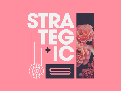 Strategic Apparel Co logodesign graphicdesign badgedesign shirtdesign shirt avantgarde appareldesign merchdesign boldtype thicktype type floral flower apparel merch