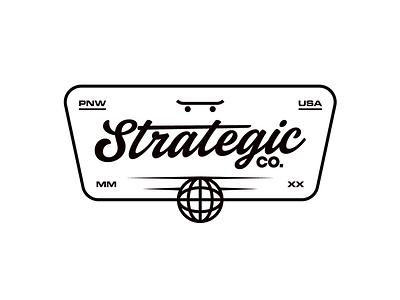 Strategic Badge logoinspirations vanguarddesignco logodesigns patch apparel strategic merch merchdesign skateboard skate badgedesign logodesigner logodesign logo
