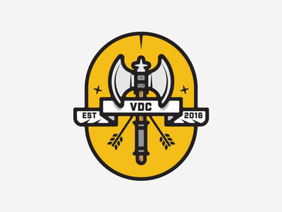 VDC Axe Badge axebadge logodesigner graphicdesigner brandidentity branddesigns branddesign brandlogo patch apparel merch merchdesign logodesign vanguarddesignco weapon axe badgedesign badge