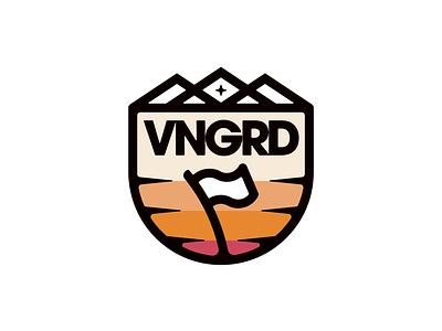 VNGRD Flag Badge brandidentity brandlogo logoinspirations bold boldlines thicklines patch merchdesigner logodesigner flaglogo vanguarddesignco badgelogo merchdesign logodesign badgedesign flag badge