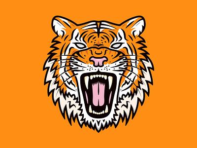Tiger Face vanguarddesignco designer freelance animaldesign merchdesign adobeillustrator illustrator illustrate illustrationoftheday illo graphicdesign illustration tiger