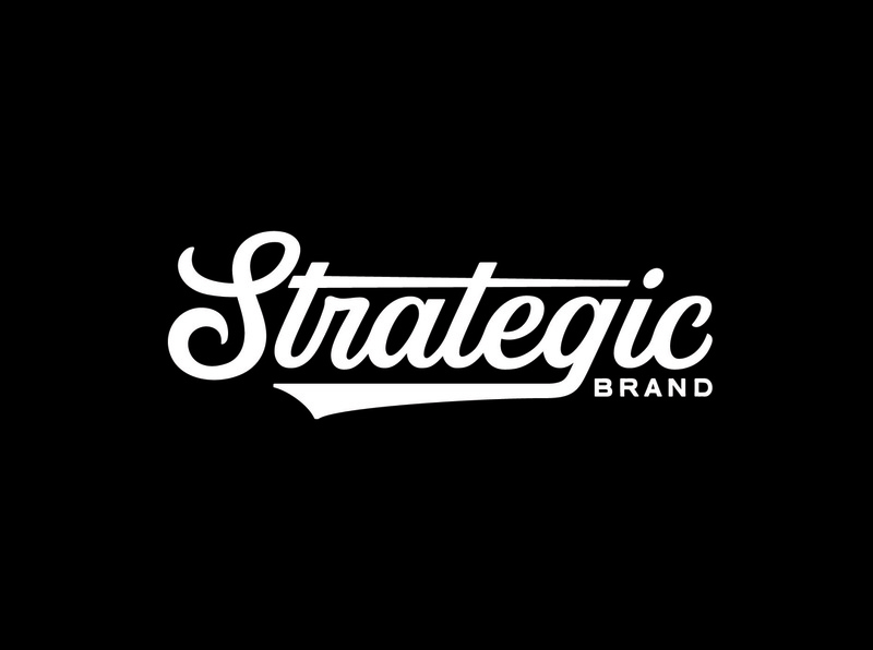 Strategic Wordmark script minimal simple merch wordmarks word mark wordmark typetopia apparel clothing custom type type logo designer logo design logotype logodesign branding vanguarddesignco logo