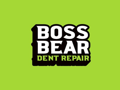 Boss Bear Type brand identity design custom logo type mark typography custom type green vanguard logo designer brand logo logo design brandlogo type logotype branding badge logodesigner logodesign vanguarddesignco logo
