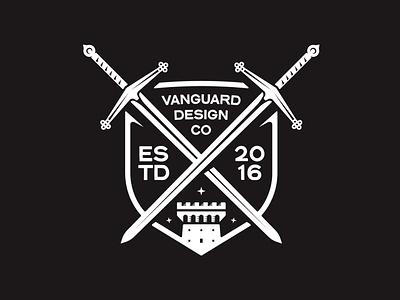 VDC Claymore Badge logo freelance brand designer vanguard knights castle swords sword apparel merchdesign merch design merch brand logo design brand design brand logo badgedesign badge logo badge design badge