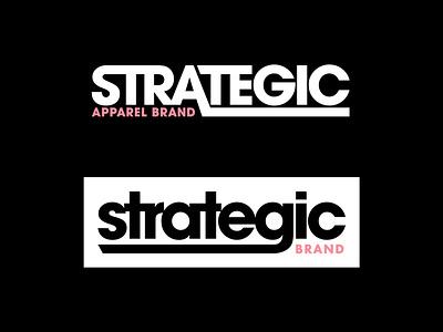 Strategic Wordmarks apparel merch strategic brand logo design brand identity brand design brand logo logo design skate type design typedesign custom type typography logo type logotype type logodesigner logodesign branding logo