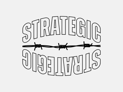 Barbed Wire Strategic vanguard outline barbed skate apparel merch brand logo design brand identity brand design brand type logo typography custom type logo type logotype type brand logo brandlogo logo design logo