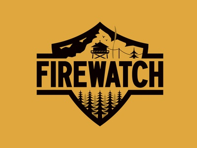 Firewatch Badge logo designer apparel outdoors trees firewatch mountains mountain nature patch merch design merch brand logo logo design branding branding badge design badgedesign badge logo design logodesign