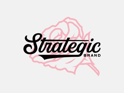 Strategic Rose Logo vanguard brand designer custom type type design typedesign typography type rose flower skate tee shirt tee apparel merchandise merch branding brand logo logo design logotype logo