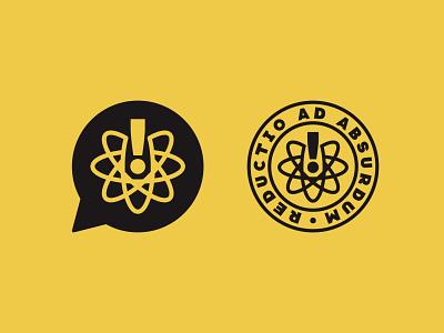 Reductio Ad Absurdum science atomic atom brand identity design icon logo logo mark logo designer brand designer brand identity brand logo brand design logo design branding badge design logo design branding badge logodesign logo