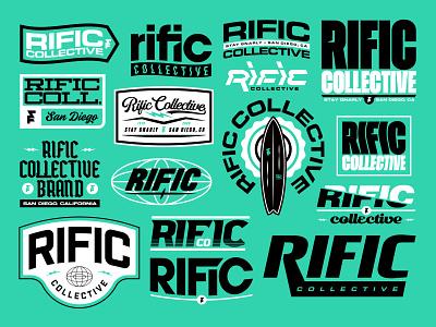 Rific Collective Brand Collection bold bundle apparel merch surf sports logo designer logo design logodesign brand logo branding design brand designer brand identity brand brand design design logotype badge branding logo